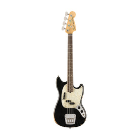 Fender Justin Meldal-Johnson Road Worn Mustang Bass Guitar, Black