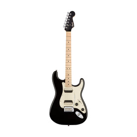 Squier Contemporary HH Stratocaster Electric Guitar, Maple FB, Black Metallic