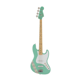 Fender Japan Silent Siren Signature Jazz Bass Guitar, Maple FB, Surf Green