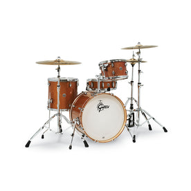 Gretsch CT1-J404-BS Catalina Club 4-Piece Drum Shell Kit Set(20inch Bass), Bronze Sparkle