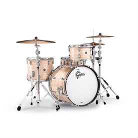 Gretsch GB-E404-302 Brooklyn 4-Piece Drum Shell Kit (20inch Bass), Creme Oyster