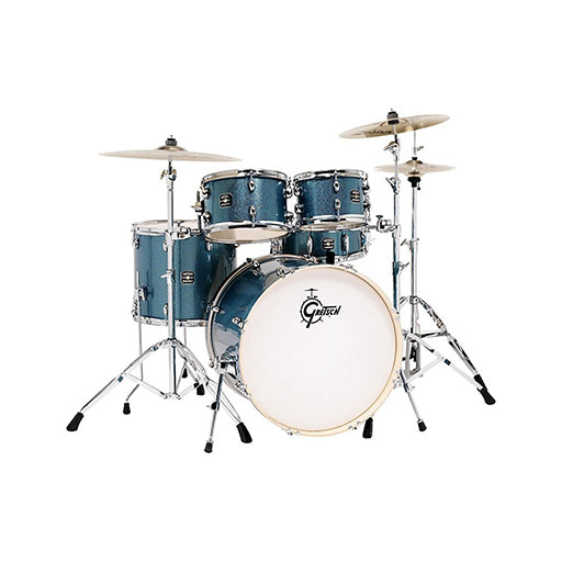 Gretsch GE4605BS Energy 5-Piece Drum Kit w/Hardware (20inch BD), No Cymbals, Blue Sparkle