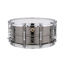 Ludwig 6.5x14inch LB417KT Black Beauty Brass Snare Drums, Hammered Shell w Tube Lugs