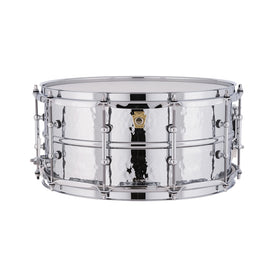 Ludwig LM402KT 6.5x14inch Supraphonic Chrome-Plated Aluminium Snare Drum, Hammered Shell, Tube Lugs