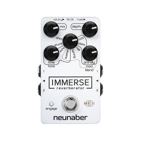 Neunaber Special Edition White-out Immerse Reverberator MKII Guitar Effects Pedal