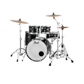 Pearl DMP925SPC-234 Decade Maple 5-Pcs Shell Pack (2218B/1007T/1208T/1616F/1455S), Black Ice