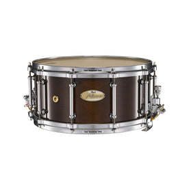 Pearl PHM1465-101 14x6.5inch Philharmonic Solid Maple Concert Snare Drum, High Gloss Walnut