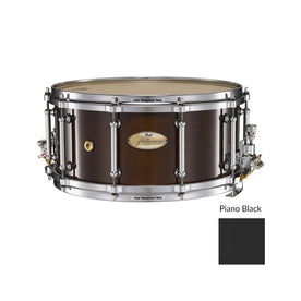 Pearl PHM1465-103 14x6.5inch Philharmonic Solid Maple Concert Snare Drum, Piano Black