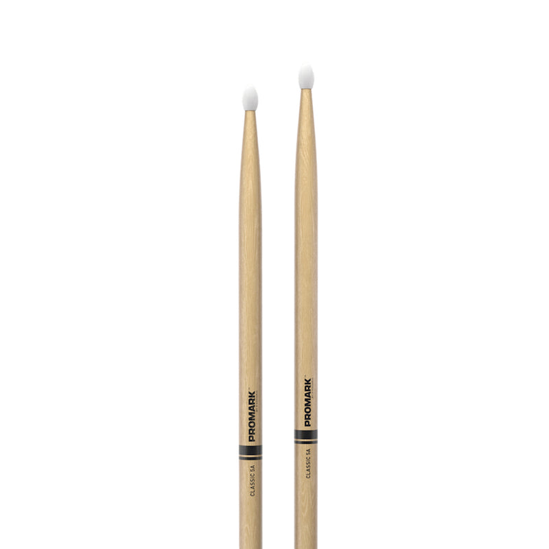 Promark TX5AN Hickory 5A Drumsticks, Nylon Tip