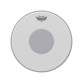 Remo CS-0114-10 14inch Controlled Sound Coated Black Dot Bottom Batter Drum Head