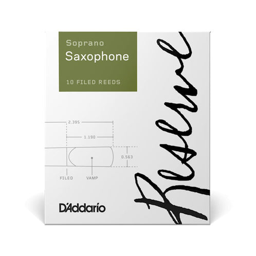 Rico Reserve Soprano Saxophone Reeds, Strength 3.0, Box of 10