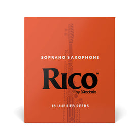 Rico Soprano Saxophone Reeds, Strength 3.5, Box of 10