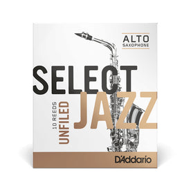 Rico Select Jazz Unfiled Alto Saxophone Reed, 3 Soft, Box Of 10