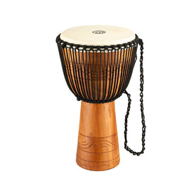 MEINL Percussion ADJ2-XL+BAG 13inch Original Arifican Style Rope Tuned Wood Djembe w/Bag, Water Rhyt