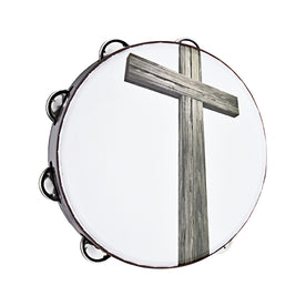 MEINL Percussion CHT2C Praise & Worship Tambourine, Religious Cross, 2 Rows, Nickel Steel Jingles