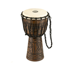 MEINL Percussion HDJ17-S 8inch Rope Tuned Headliner Series Wood Djembe, Artifact Series, Brown