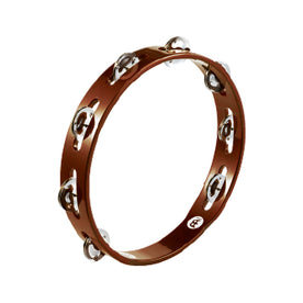 MEINL Percussion TA1AB Traditional Wood Tambourine, Stainless Steel Jingles, African Brown