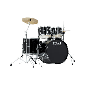 TAMA SG58H6C-BK Stagestar 5-Piece Drum Kit w/ Hardware+Throne+Cymbals, Black
