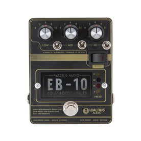 Walrus Audio EB-10 Preamp/EQ/Boost Guitar Effects Pedal, Black