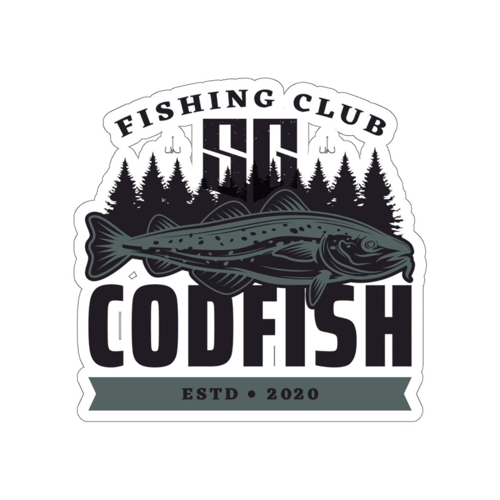 Codfish Fishing Club - Kiss-Cut Stickers