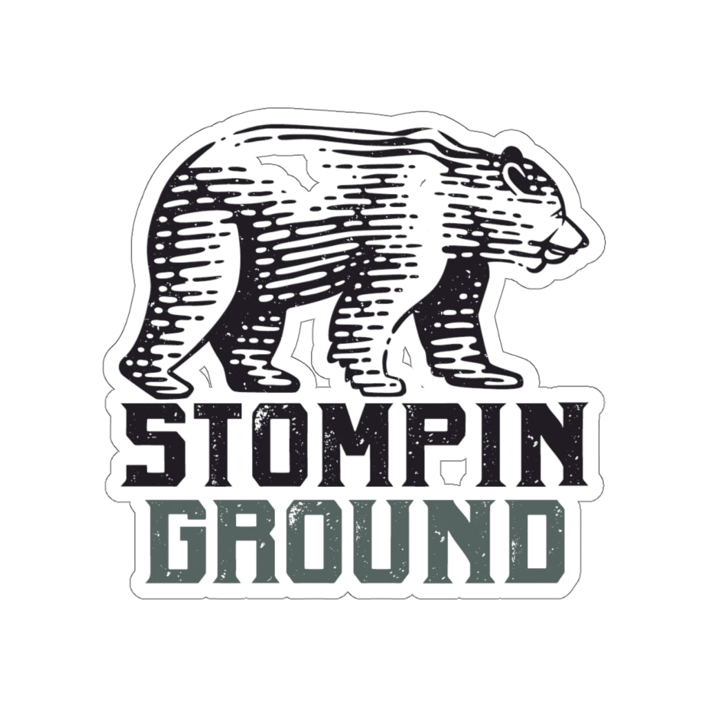 Stompin Ground Bear - Kiss-Cut Stickers