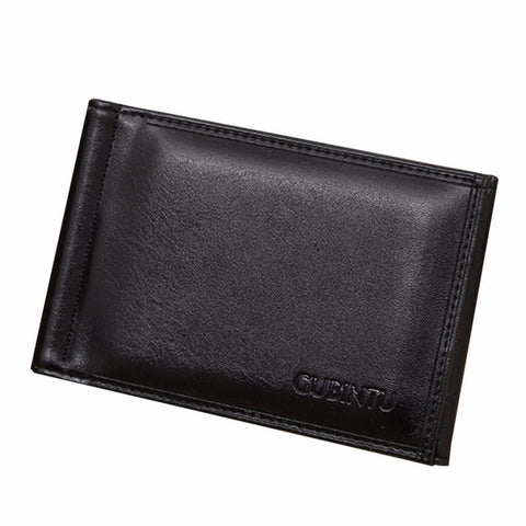 Suave Business Men Wallets Leather Card Cash Receipt Holder Organizer Billfold Coin Wallet