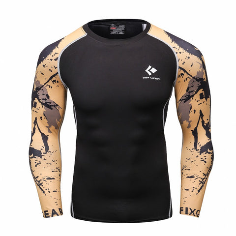 Suave Muscle Man Brand Armor Compression Tight t-shirts Long Sleeve Shirt