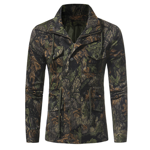 Suave Casual Camouflage Jacket