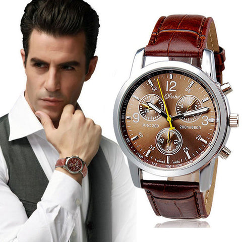 Suave's Splendid New Luxury Fashion Crocodile Faux Leather Men's Analog Watch