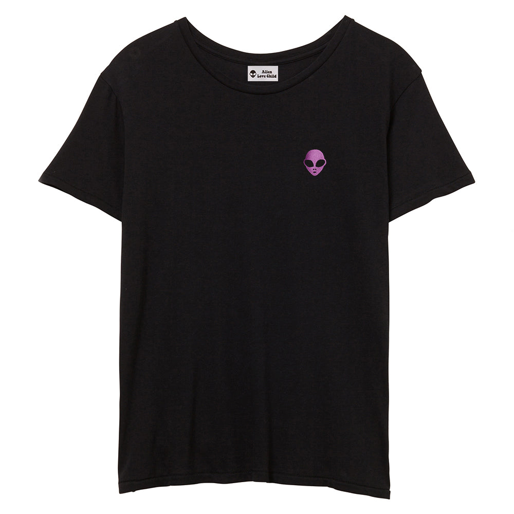 Embroidered 100% Cotton<br>Black Unisex T-Shirt
