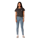 Embroidered 100% Cotton <br>Grey Women's T-Shirt