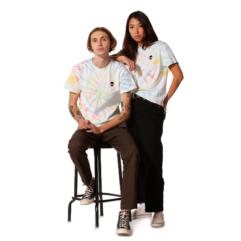 Embroidered 100% Cotton<br>Old-School Tie-Dyed T-Shirt
