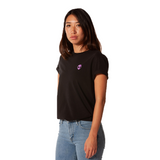 Embroidered 100% Cotton <br>Black Unisex T-Shirt