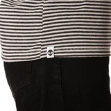 Embroidered Eco-Jersey <br>Black-Striped Women's T-Shirt
