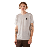 Embroidered Eco-Jersey <br>Micro-Striped Unisex T-Shirt