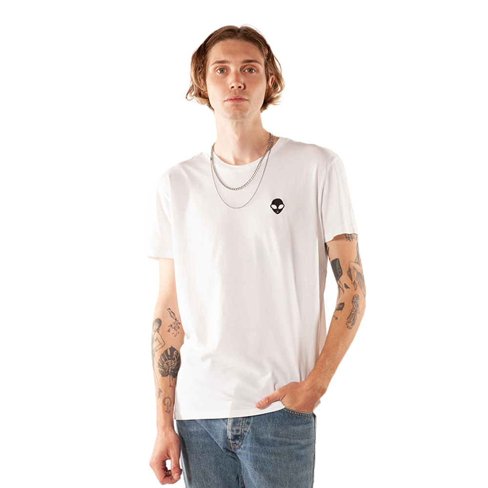 Embroidered 100% Cotton <br>White Unisex T-Shirt