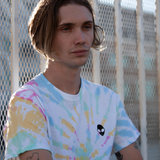 Embroidered 100% Cotton <br>Old-School Tie-Dyed T-Shirt