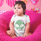 It's An Alien Girl! <br>Short Sleeve Baby-Bodysuit