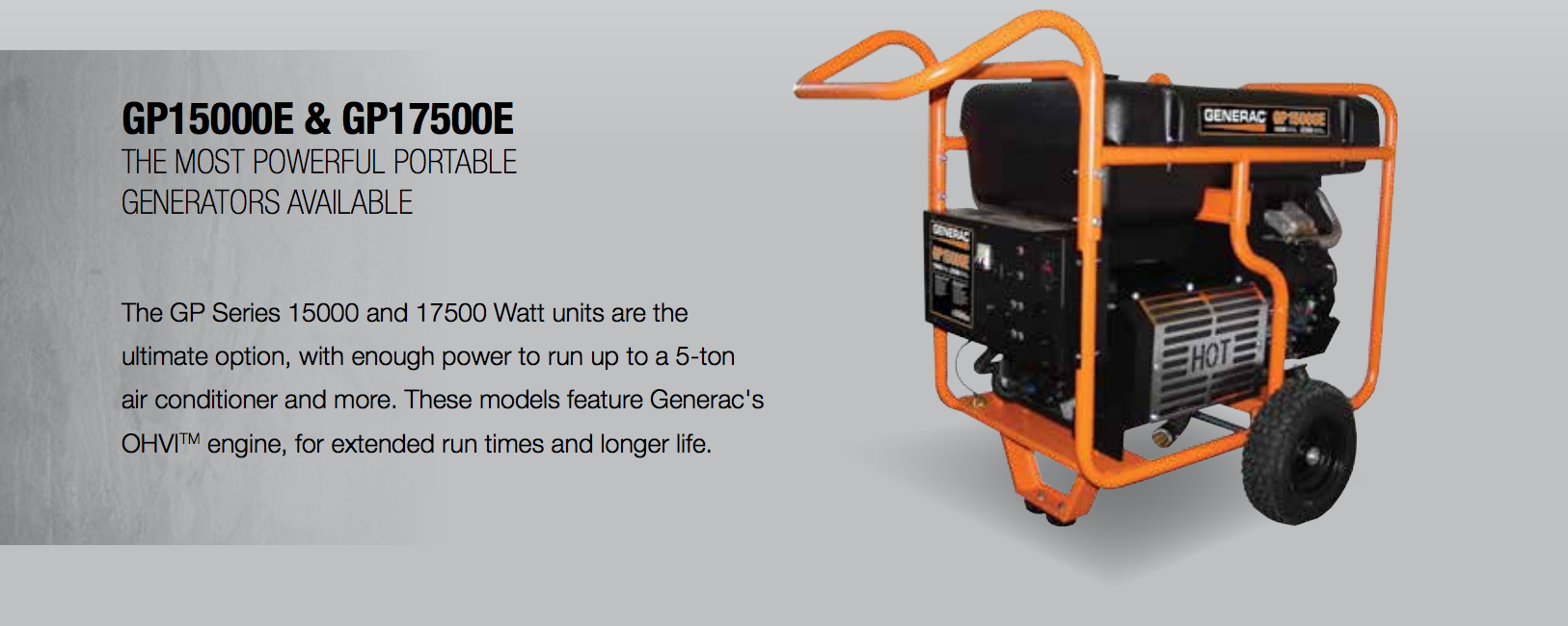 Generac 5734 Gp15000e Portable Generator Free Shipping Us 15000 Wiring Diagram While A Sturdy Steel Tube Cradle Protects The Generators Exterior For Safe And Comfortable Use Circuit Breaker Outlets Prevent Power Overloads