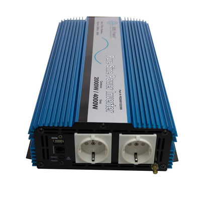 AIMS Power PE200012230S | 2000W European Pure Sine Power Inverter