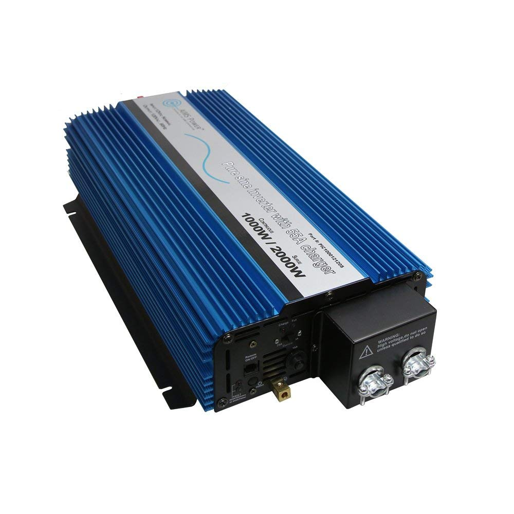 AIMS Power PIC100012120S | 1000W Pure Sine Inverter Charger Hardwire Only
