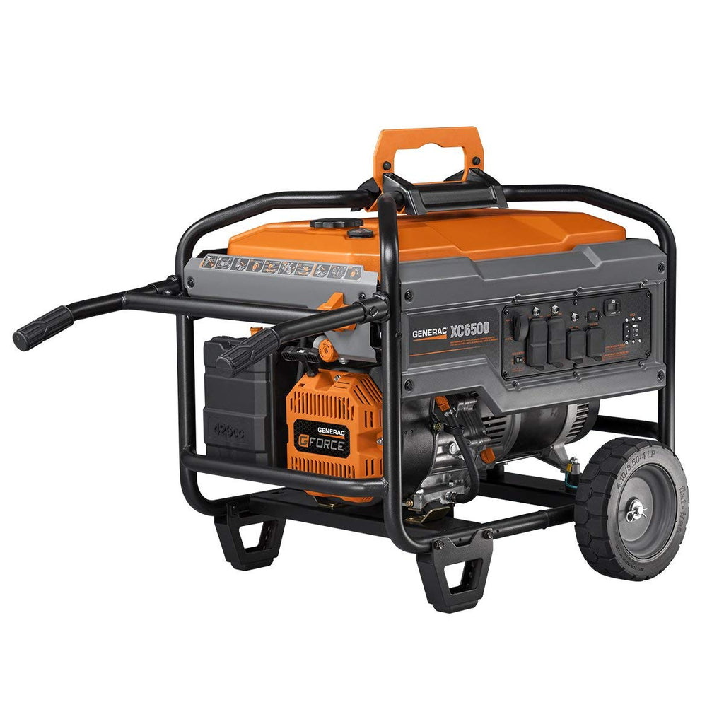 Generac 6824 | XC6500 Gasoline Powered Portable Generator
