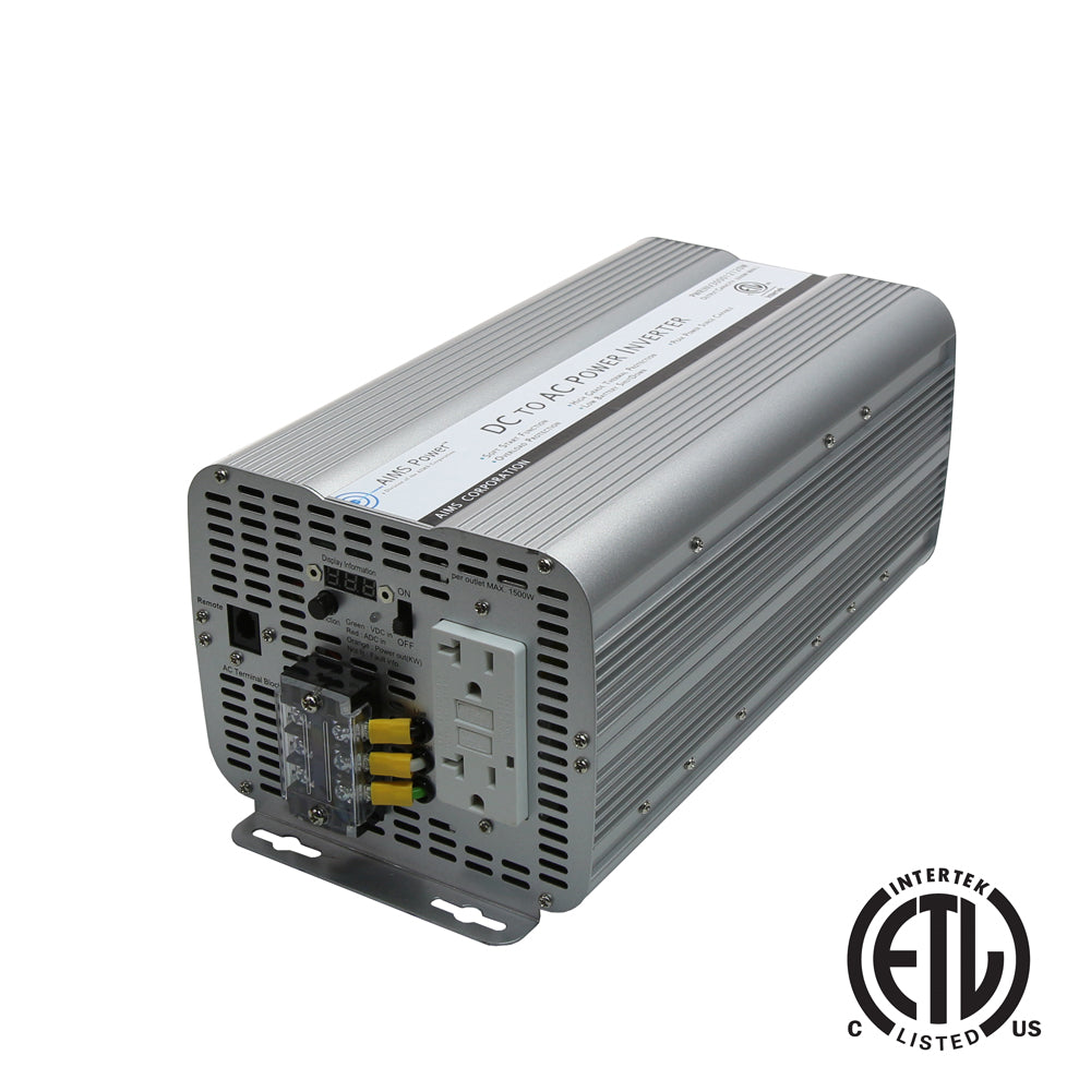 Aims Power Pwrinv300012120w 3000w Ul458 Listed Inverter