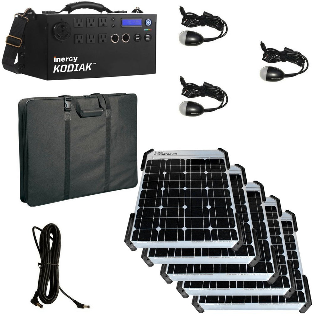 Kodiak Predator Portable Solar Generator - Gold Kit