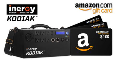 Inergy Kodiak 1,100W Portable Solar Generator + $100 Amazon Gift Card