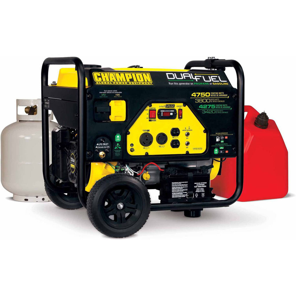 Champion 3800W Dual Fuel Portable Generator Free Shipping to Puerto Rico