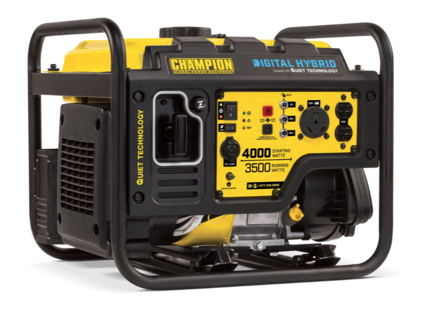 Champion 100302 | 4000 Watt Digital Hybrid Portable Inverter