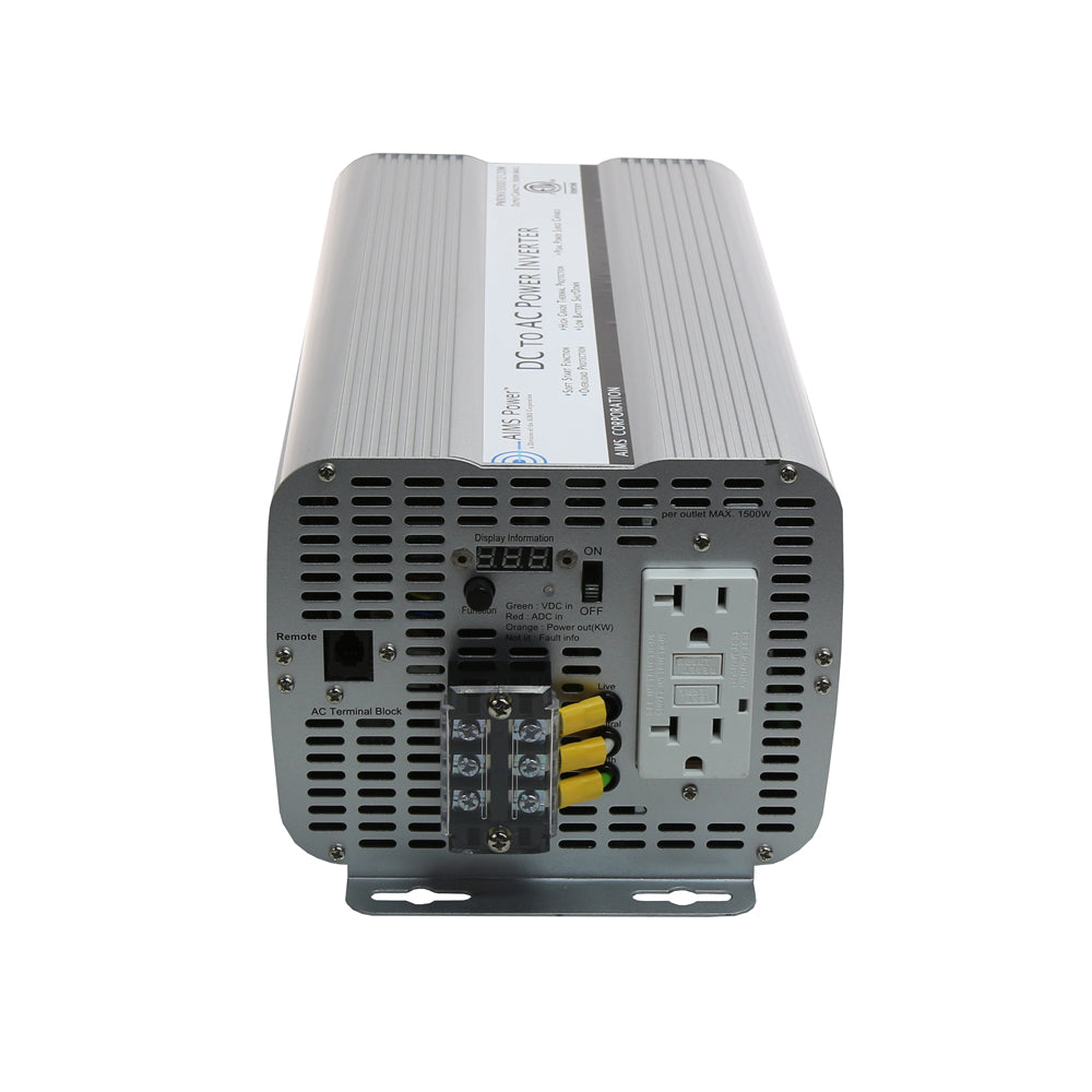 AIMS Power PWRINV360012120W | 3600W UL458 Listed Power Inverter