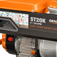"Generac 6822 | 2"" Semi Trash Water Pump Package"