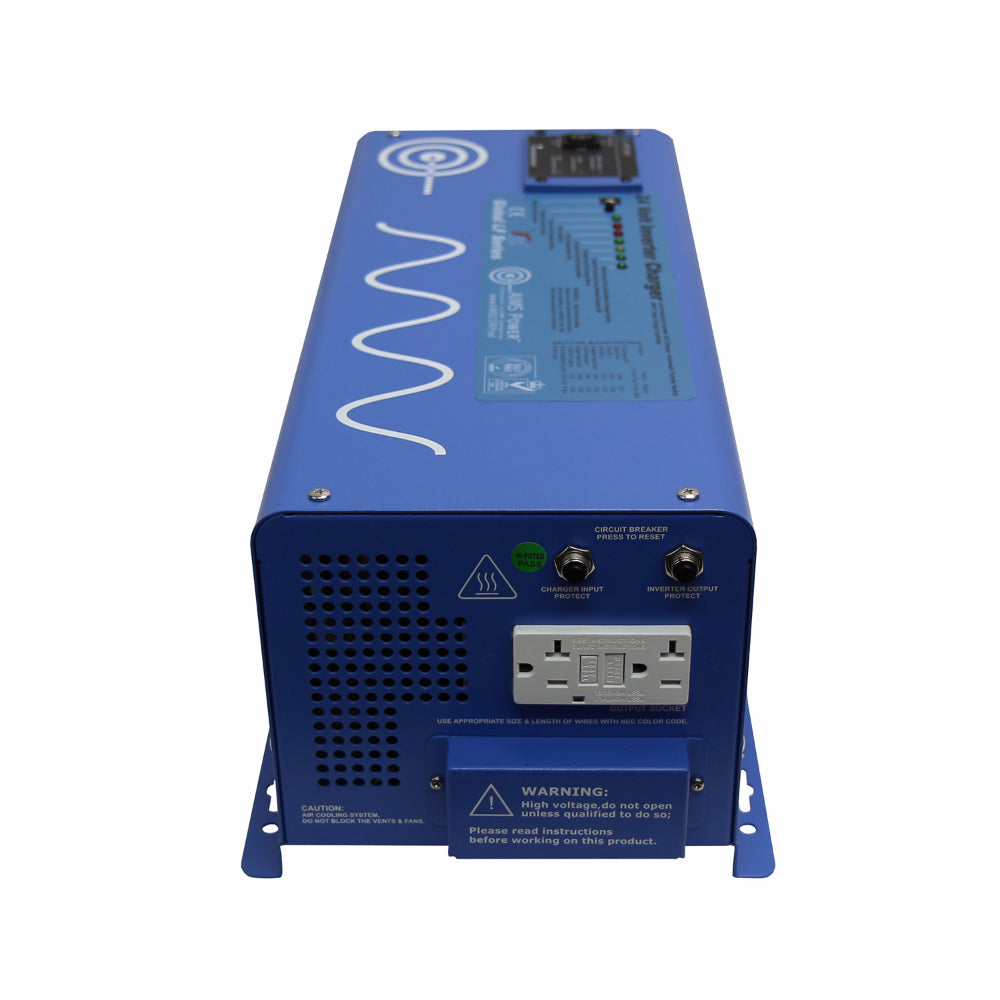 Aims Power Pwri300012120s Pure Sine Inverter 3000 Watt Continuous How To Reset Your Gfci Outlets And Circuit Breakers 6000 Surge Peak